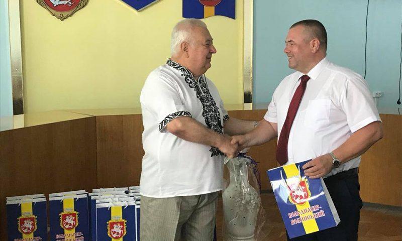 Z życzeniami na Ukrainie