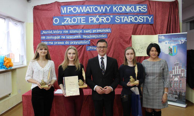 """Rozstrzygnięcie VI Powiatowego Konkursu o """"Złote Pióro"""" Starosty Kętrzyńskiego"""