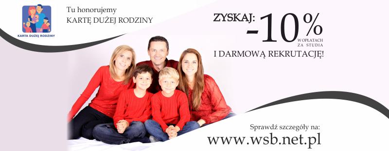 """Bon """"Karta Dużej Rodziny"""" w Wyższej Szkole Bezpieczeństwa w Bartoszycach"""