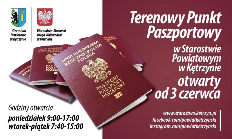 Zapraszamy 3 czerwca do nowo otwartego Terenowego Punktu Paszportowego