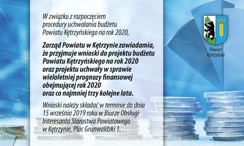 Informacja ws. uchwalenia budżetu Powiatu Kętrzyńskiego na rok 2020