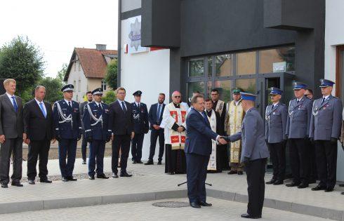 Uroczyste otwarcie nowego budynku Komisariatu Policji w Korszach