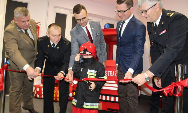 Otwarcie Sali Edukacyjnej w Komendzie Powiatowej Państwowej Straży Pożarnej w Kętrzynie