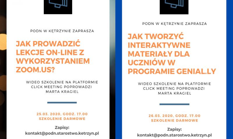 Zaproszenia do udziału w szkoleniach przygotowanych przez Powiatowy Ośrodek Doskonalenia Nauczycieli w Kętrzynie