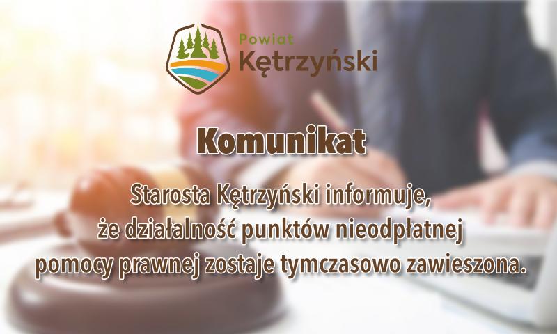 Działalność punktów nieodpłatnej pomocy prawnej – ważne informacje
