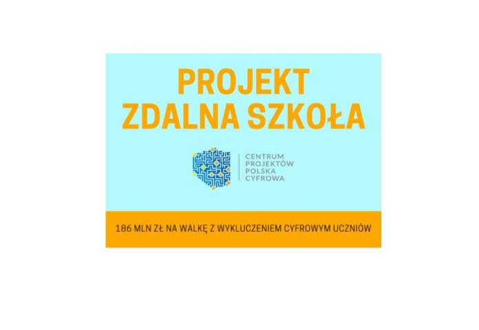 """Projekt """"Zdalna Szkoła"""" w powiecie kętrzyńskim"""