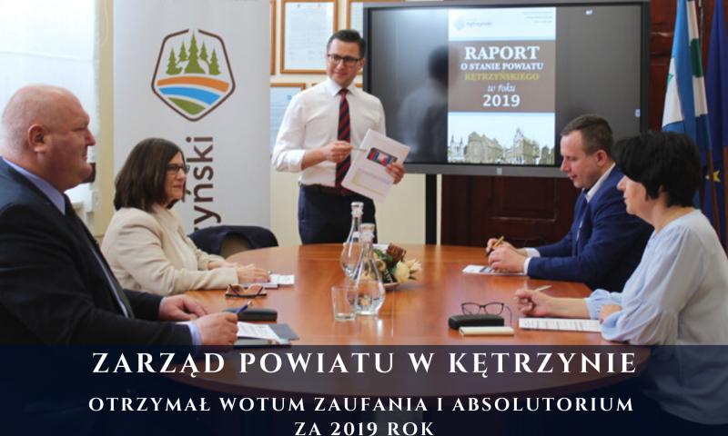 Zarząd Powiatu z wotum zaufania i absolutorium za 2019 rok