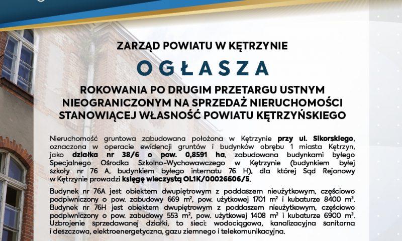Ogłoszenie Zarządu Powiatu w Kętrzynie