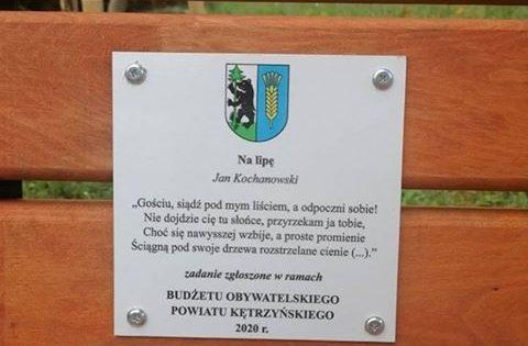 Miasto i gmina Korsze zyskało siedemnaście ławek oraz drzewek parkowych