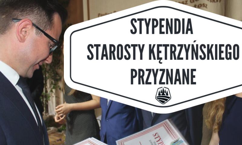 Stypendia starosty kętrzyńskiego za wybitne osiągnięcia  naukowe, sportowe i artystyczne