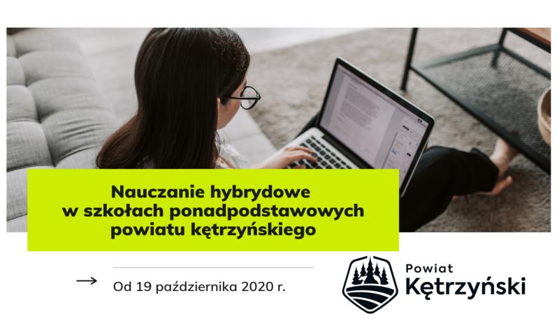 Nauczanie hybrydowe w szkołach ponadpodstawowych powiatu kętrzyńskiego