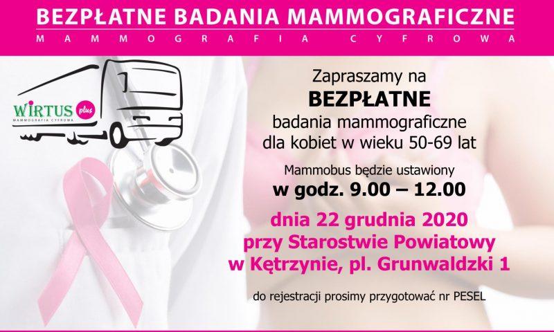 Badania mammograficzne-odwołane!