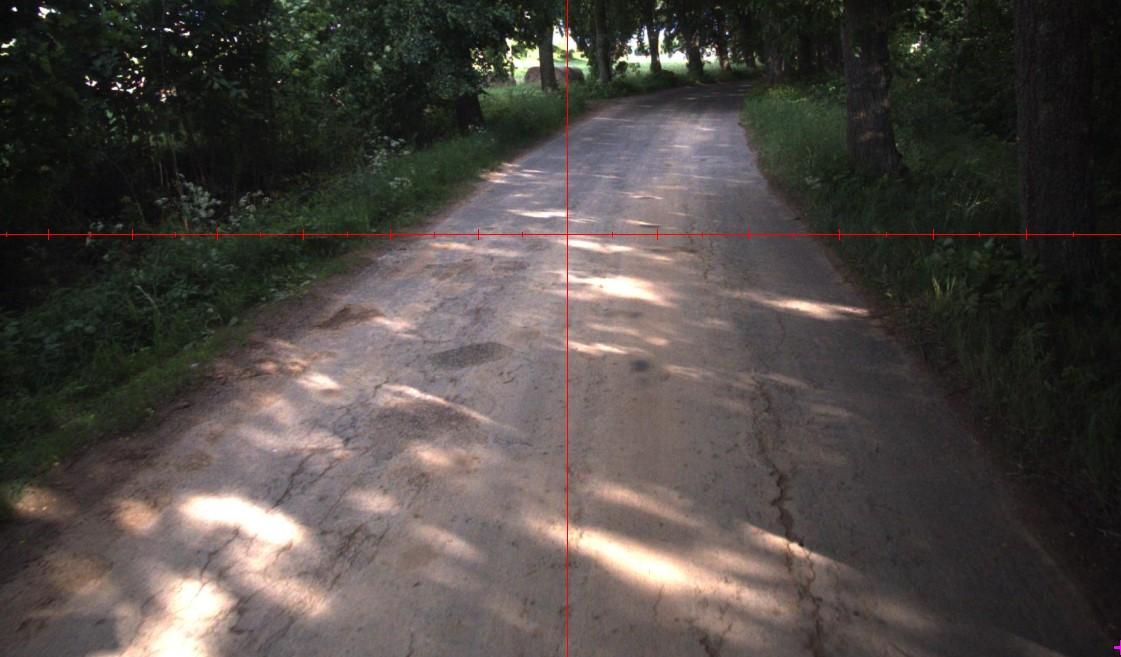 Fotografia przedstawia drogę powiatową Nr 1602N Lesieniec - Silec w kierunku Surwile - etap II (przed inwestycją)