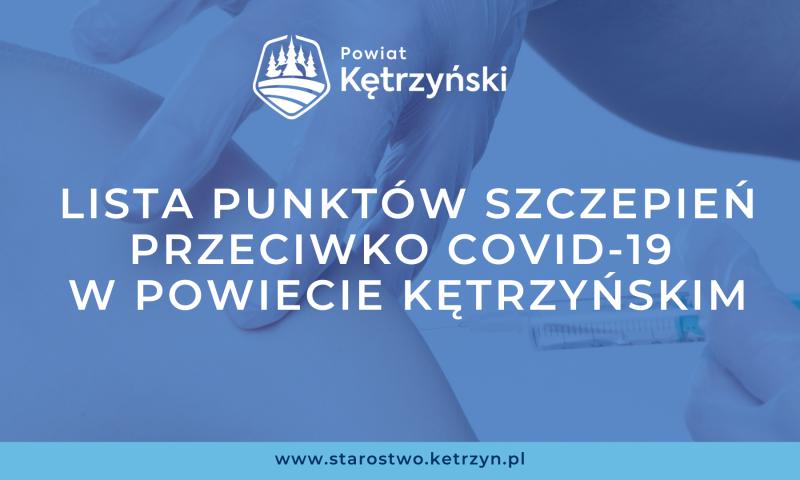 Lista punktów szczepień przeciwko COVID-19 w powiecie kętrzyńskim
