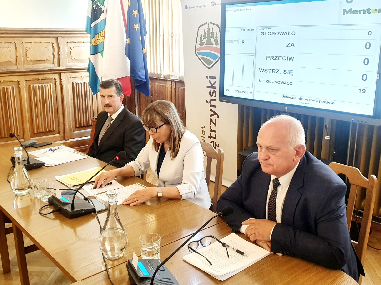 zdjęcie przedstawia Radnych Rady Powiatu w Kętrzynie