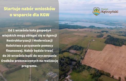 Startuje nabór wniosków o wsparcie dla KGW