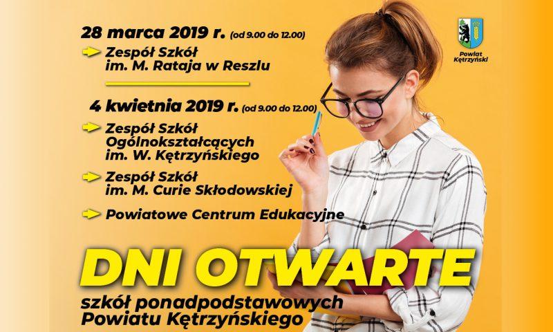 Dni Otwarte Szkół Ponadpodstawowych Powiatu Kętrzyńskiego