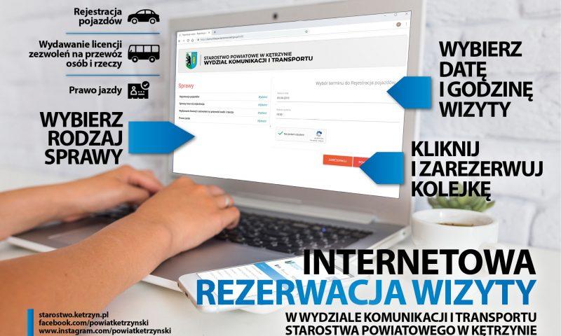 Internetowa rezerwacja wizyty w Wydziale Komunikacji i Transportu