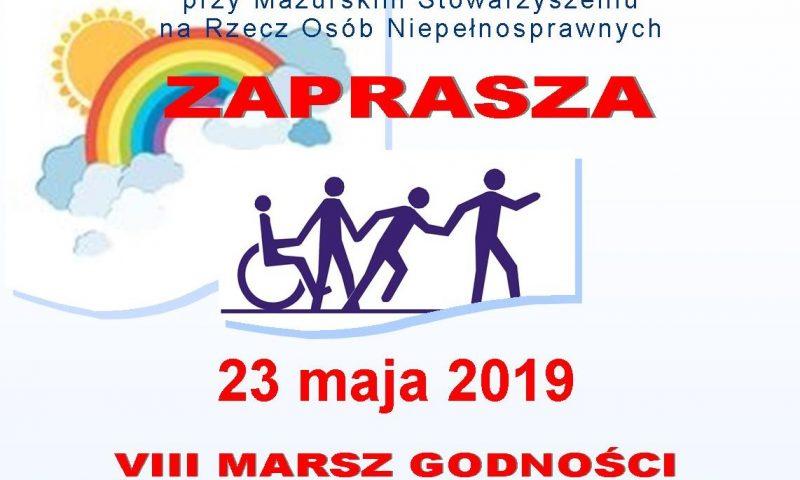 """VIII Marsz Godności Osób Niepełnosprawnych                 """"Bądźmy Razem"""""""