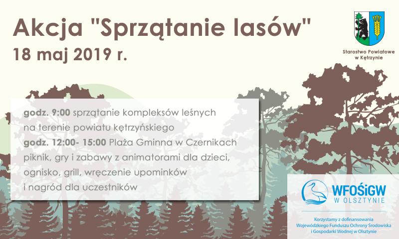 """Akcja """"Sprzątanie lasów"""" już 18 maja!"""