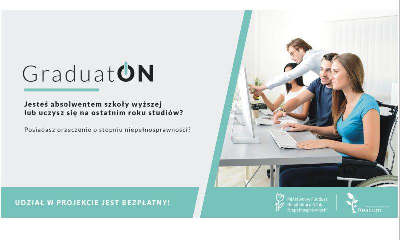 Projekt GraduatON -organizowany przez Państwowy Fundusz Rehabilitacji Osób Niepełnosprawnych