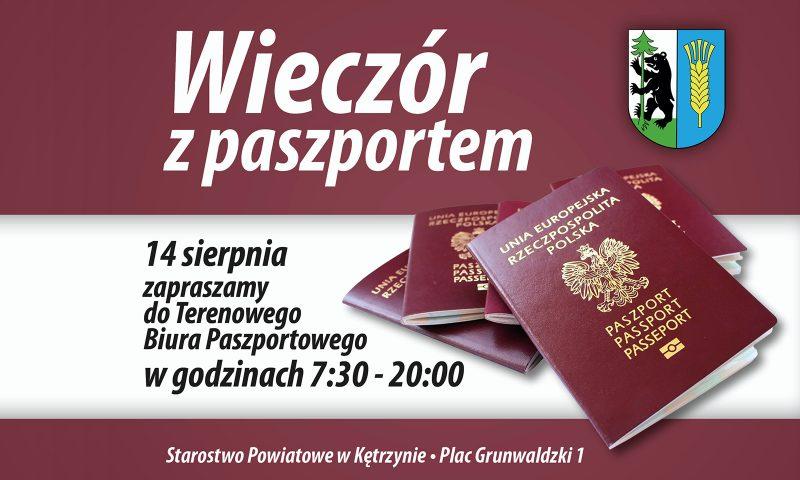 """""""Wieczór z Paszportem"""" już 14 sierpnia w Terenowym Biurze Paszportowym w Kętrzynie!"""