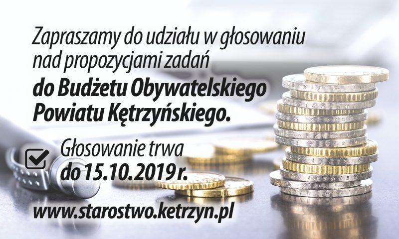 Rozpoczynamy głosowanie w Budżecie Obywatelskim Powiatu Kętrzyńskiego na 2020r.