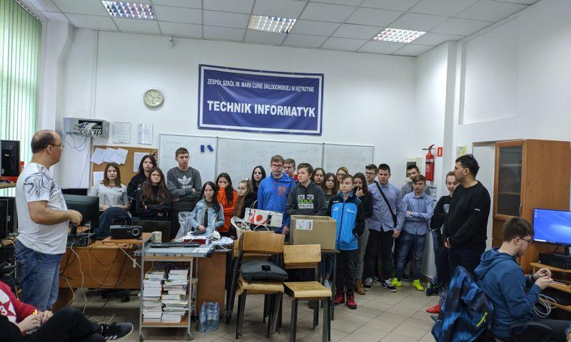 Wizyta uczniów w Centrum Kształcenia Zawodowego w Kętrzynie