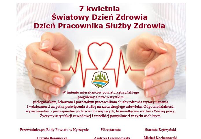 Dziś Obchodzimy Dzień Pracownika Służby Zdrowia oraz Światowy Dzień Zdrowia