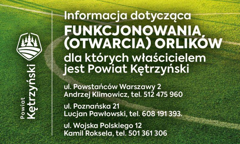 Powiat Kętrzyński udostępnia infrastrukturę sportową w Kętrzynie