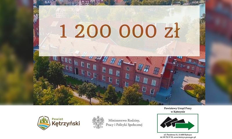 Powiatowy Urząd Pracy w Kętrzynie uzyskał wsparcie finansowe z rezerwy  Ministerstwa Rodziny, Pracy i Polityki Społecznej
