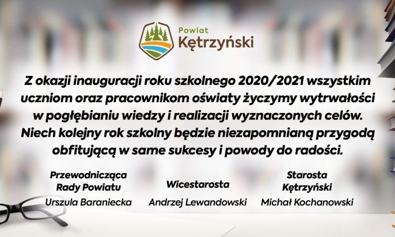 Życzenia  samorządu powiatu kętrzyńskiego z okazji inauguracji roku szkolnego 2020/2021