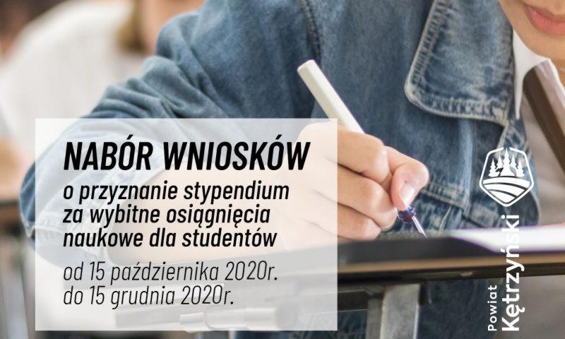 Starosta kętrzyński ogłasza nabór wniosków o przyznanie stypendium za wybitne osiągnięcia naukowe dla studentów