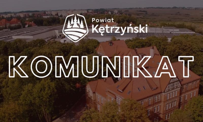 Komunikat w sprawie funkcjonowania Szpitala Powiatowego w Kętrzynie