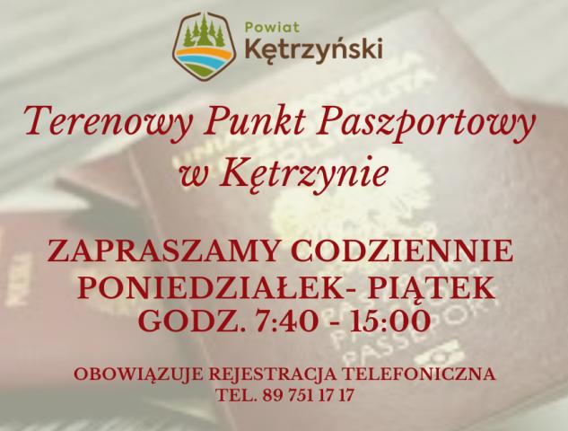 """Informacja w sprawie funkcjonowania """"Terenowego Punktu Paszportowego w Kętrzynie"""""""