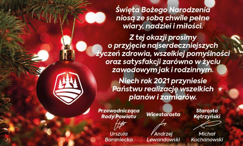 Życzenia władz samorządu powiatu kętrzyńskiego z okazji Świąt Bożego Narodzenia