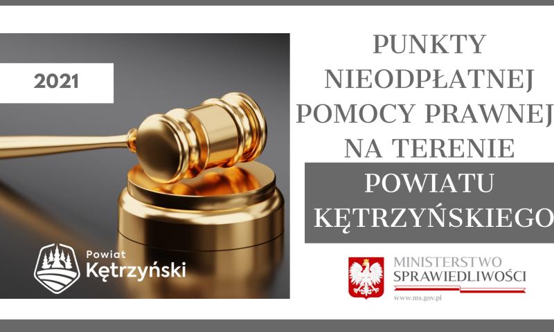 Punkty nieodpłatnej pomocy prawnej na terenie powiatu kętrzyńskiego