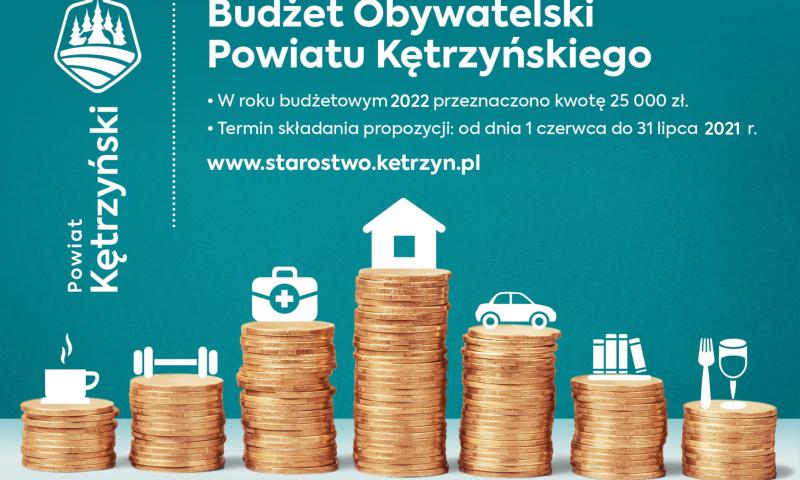 Weź udział w Budżecie Obywatelskim Powiatu Kętrzyńskiego i zmieniaj swoje otoczenie – Edycja 2022
