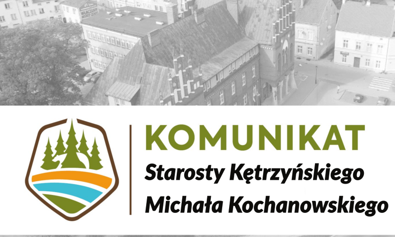 Komunikat starosty kętrzyńskiego w sprawie przebudowy mostu na rzece Guber, zlokalizowane w pasie drogi powiatowej nr 1567N w miejscowości Prosna