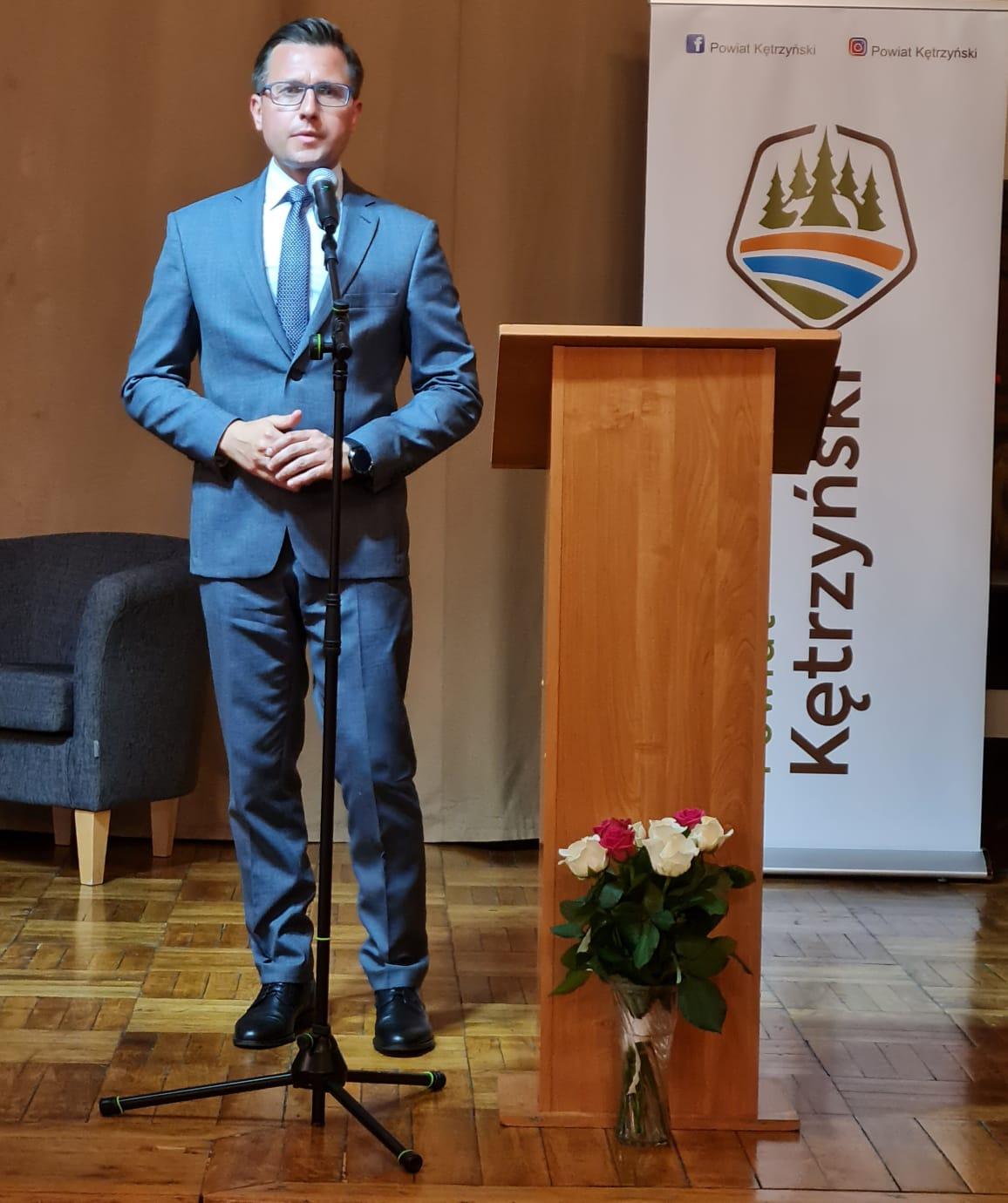 zdjęcie przedstawia Sarostę Kętrzyńskiego Michała Kochanowskiego