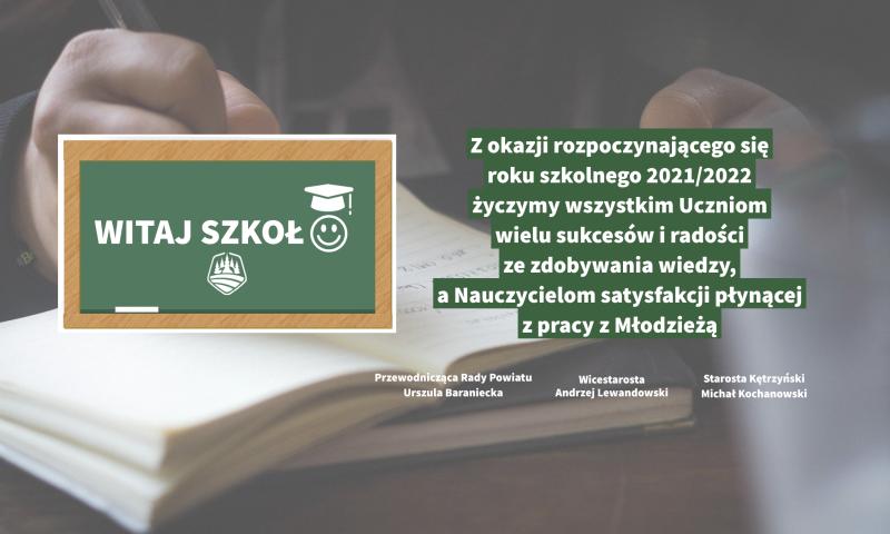 Życzenia samorządu powiatu kętrzyńskiego z okazji inauguracji roku szkolnego 2021/2022